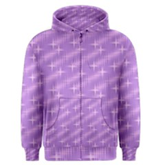 Many Stars, Lilac Men s Zipper Hoodies