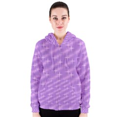Many Stars, Lilac Women s Zipper Hoodies