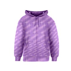 Many Stars, Lilac Kids Zipper Hoodies