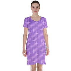 Many Stars, Lilac Short Sleeve Nightdresses