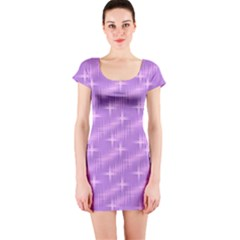 Many Stars, Lilac Short Sleeve Bodycon Dresses