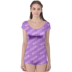 Many Stars, Lilac Short Sleeve Leotard