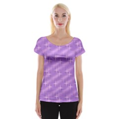 Many Stars, Lilac Women s Cap Sleeve Top