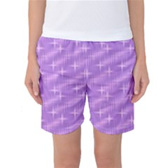 Many Stars, Lilac Women s Basketball Shorts