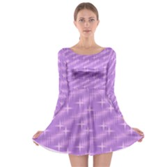 Many Stars, Lilac Long Sleeve Skater Dress