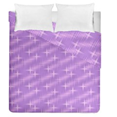 Many Stars, Lilac Duvet Cover (Full/Queen Size)