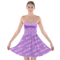 Many Stars, Lilac Strapless Bra Top Dress