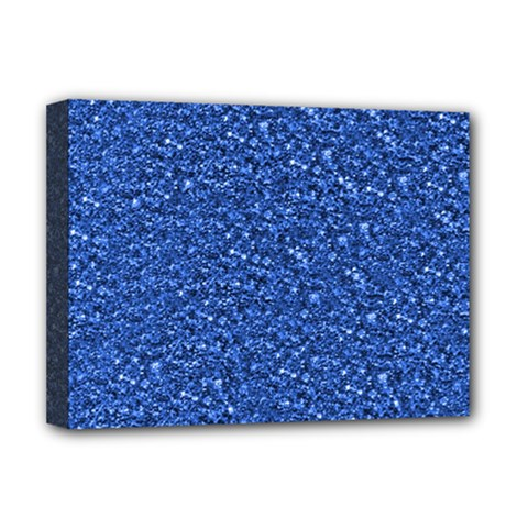 Sparkling Glitter Blue Deluxe Canvas 16  X 12