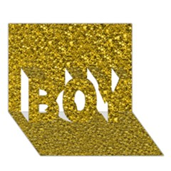 Sparkling Glitter Golden Boy 3d Greeting Card (7x5) by ImpressiveMoments