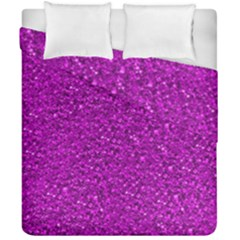 Sparkling Glitter Hot Pink Duvet Cover (double Size) by ImpressiveMoments