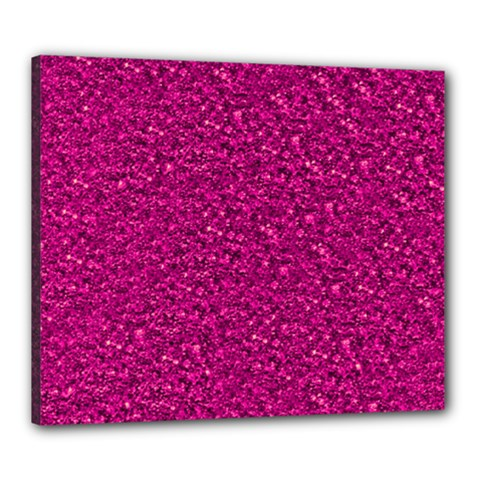 Sparkling Glitter Pink Canvas 24  X 20  by ImpressiveMoments