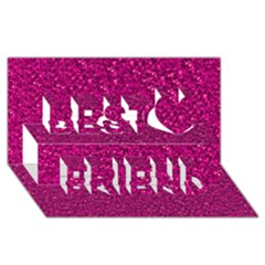 Sparkling Glitter Pink Best Friends 3d Greeting Card (8x4)  by ImpressiveMoments