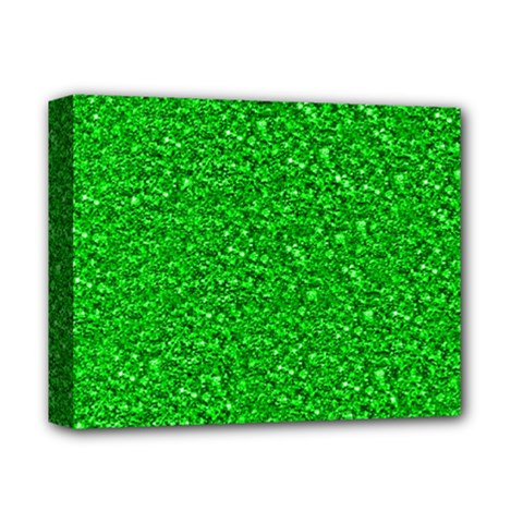 Sparkling Glitter Neon Green Deluxe Canvas 14  X 11  by ImpressiveMoments