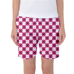 Cute Pretty Elegant Pattern Women s Basketball Shorts