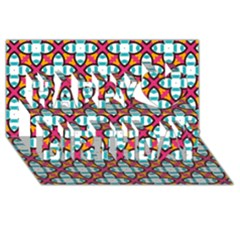 Pattern 1284 Happy Birthday 3D Greeting Card (8x4)