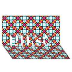 Pattern 1284 Hugs 3d Greeting Card (8x4)  by creativemom