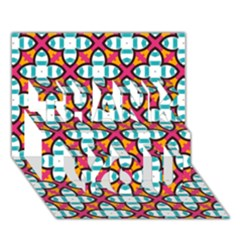 Pattern 1284 Thank You 3d Greeting Card (7x5)  by creativemom