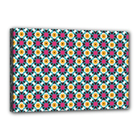 Cute Abstract Pattern Background Canvas 18  X 12  by creativemom
