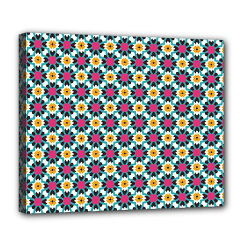 Cute Abstract Pattern Background Deluxe Canvas 24  X 20   by creativemom
