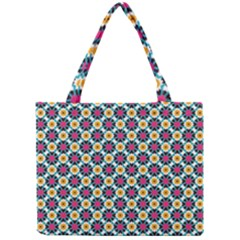 Cute Abstract Pattern Background Tiny Tote Bags by creativemom