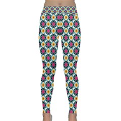 Cute Abstract Pattern Background Yoga Leggings by creativemom