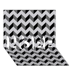 Modern Retro Chevron Patchwork Pattern  Hope 3d Greeting Card (7x5)  by creativemom