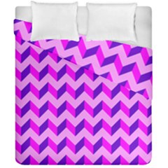 Modern Retro Chevron Patchwork Pattern Duvet Cover (double Size) by creativemom