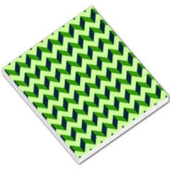 Modern Retro Chevron Patchwork Pattern Small Memo Pads by creativemom
