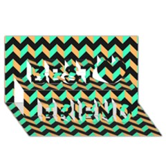 Modern Retro Chevron Patchwork Pattern Best Friends 3d Greeting Card (8x4)  by creativemom