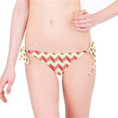 Modern Retro Chevron Patchwork Pattern Bikini Bottoms
