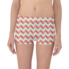 Modern Retro Chevron Patchwork Pattern Reversible Boyleg Bikini Bottoms by creativemom