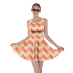 Modern Retro Chevron Patchwork Pattern Skater Dresses