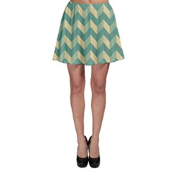 Modern Retro Chevron Patchwork Pattern Skater Skirts by creativemom