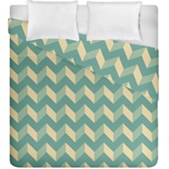 Modern Retro Chevron Patchwork Pattern Duvet Cover (king Size) by creativemom
