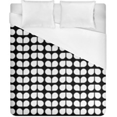 Black And White Leaf Pattern Duvet Cover Single Side (double Size) by creativemom