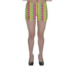 Colorful Leaf Pattern Skinny Shorts