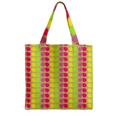 Colorful Leaf Pattern Zipper Grocery Tote Bags by creativemom