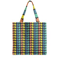 Colorful Leaf Pattern Grocery Tote Bags by creativemom