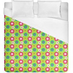 Cute Floral Pattern Duvet Cover Single Side (kingsize) by creativemom