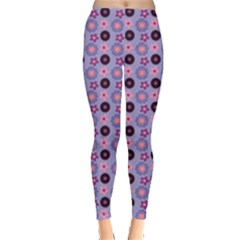 Cute Floral Pattern Women s Leggings by creativemom