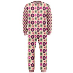 Cute Floral Pattern Onepiece Jumpsuit (men)  by creativemom
