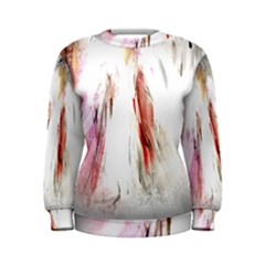 Abstract Angel In White Women s Sweatshirts