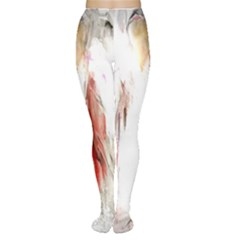 Abstract Angel In White Women s Tights by digitaldivadesigns