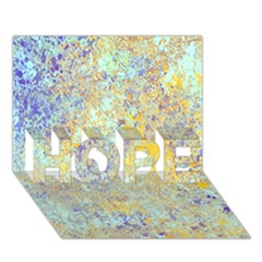 Abstract Earth Tones With Blue  Hope 3d Greeting Card (7x5)  by digitaldivadesigns