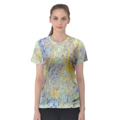 Abstract Earth Tones With Blue  Women s Sport Mesh Tees