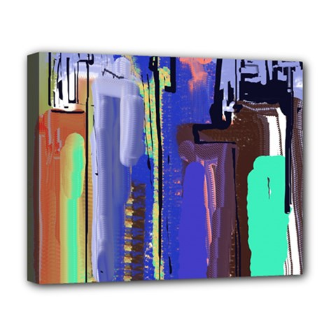 Abstract City Design Deluxe Canvas 20  X 16   by digitaldivadesigns