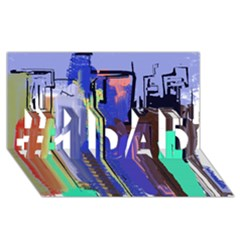 Abstract City Design #1 Dad 3d Greeting Card (8x4)  by digitaldivadesigns