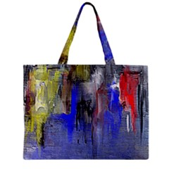 Hazy City Abstract Design Zipper Tiny Tote Bags