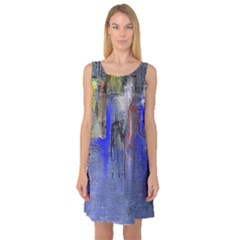 Hazy City Abstract Design Sleeveless Satin Nightdresses by digitaldivadesigns