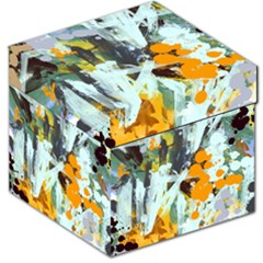 Abstract Country Garden Storage Stool 12   by digitaldivadesigns